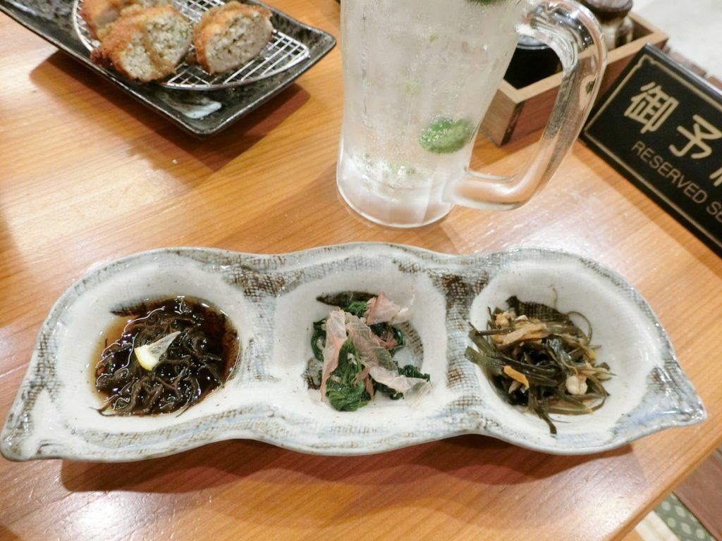 島しゃぶしゃぶNAKAMAの前菜