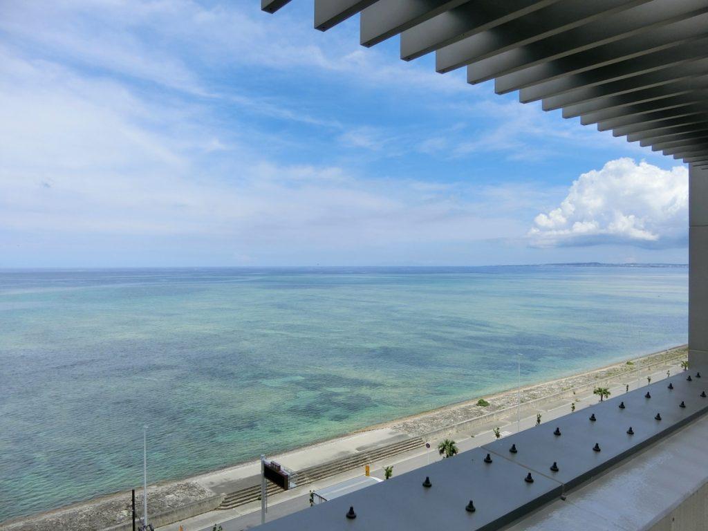 サンエーパルコシティの屋上展望台からの眺め
