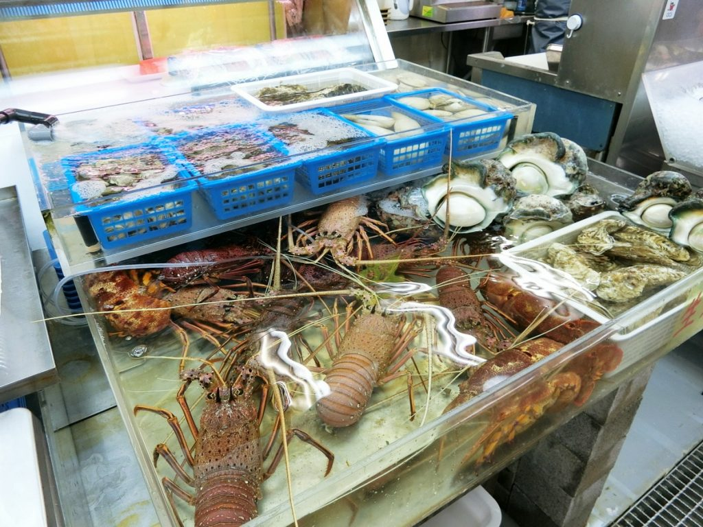 牧志公設市場の海産物