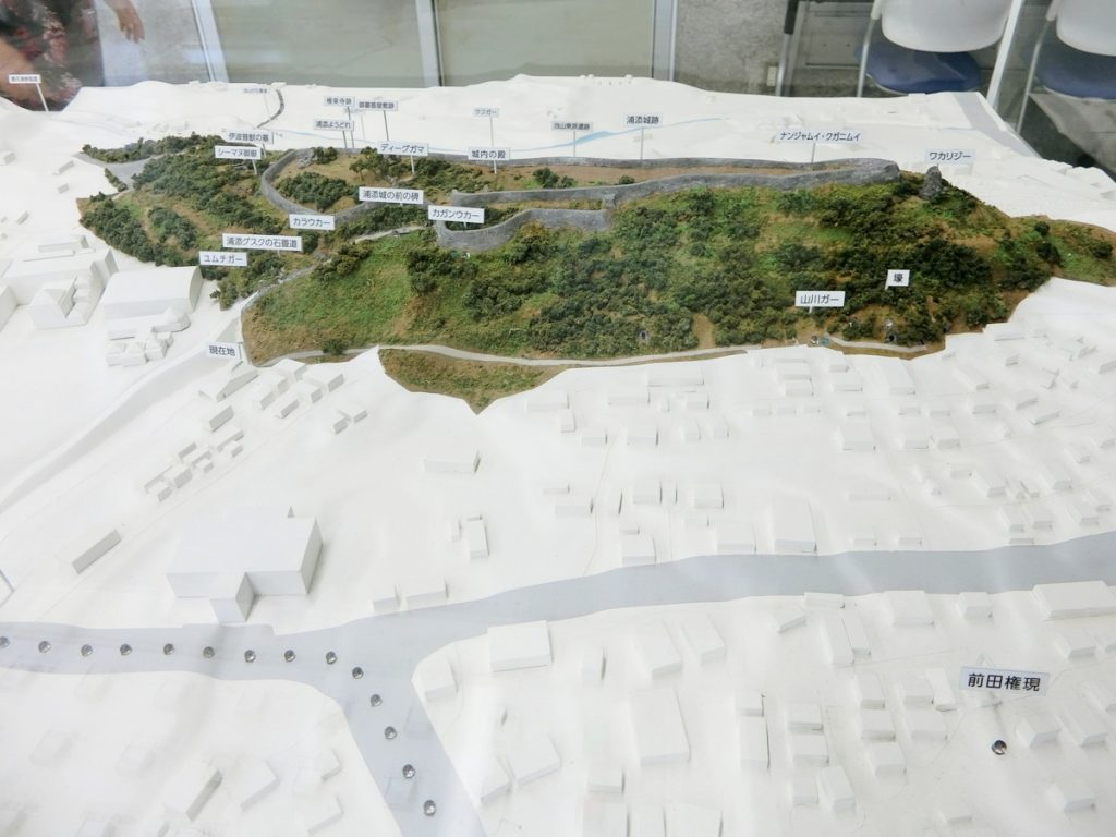 前田高地一帯の模型